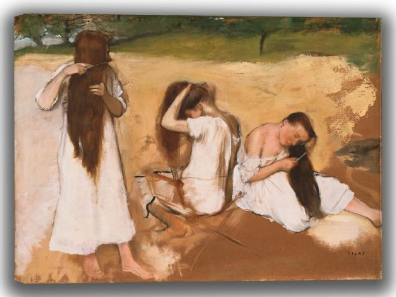 Degas, Edgar: Women Combing Their Hair. Fine Art Canvas. Sizes: A4/A3/A2/A1 (003781)